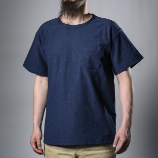 Pocket Tee Heather indigo Loop Wheeled