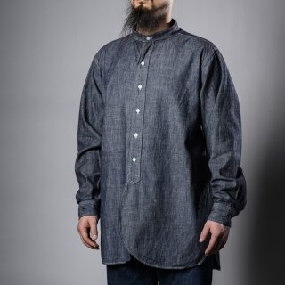 Band Collar Shirt Chambray