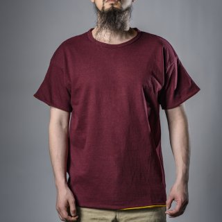 reversible tee burgundy no seam body