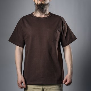 heavy weight pocket tee brown