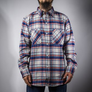 work shirt heavy flannel blue