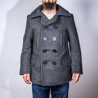 SALON BONCOURA limited P-コート カシミアメルトン グレー ヘリンボーン(Pea coat cashmere melton gray herringbone)