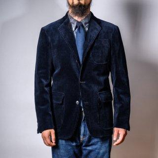 テーラードジャケット 太畝コール天 ネイビー 新型 (tailored jacket 8 wale corduroy navy)
