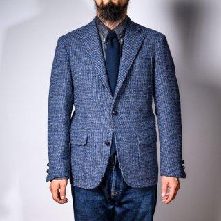 テーラードジャケット 手織りツイード アイスグレー (tailored jacket hand woven tweed ice gray)