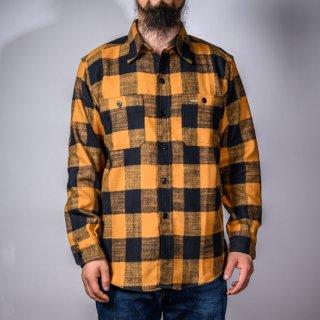 SALON BONCOURA Limited ワークシャツ オレンジチェック ( Limited work shirts orange)