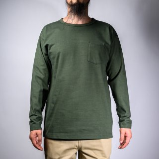 Heavy Weight Pocket Tee Long Sleeve Olive
