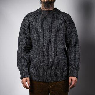 フィッシャーマンセーター チャコール シェットランド fisherman sweater charcoal Shetland