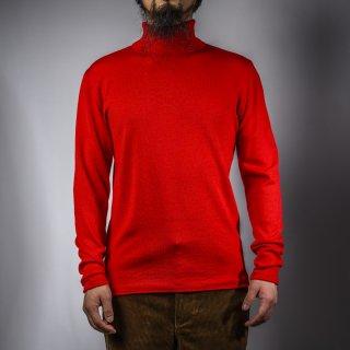 タートルネックセーター レッド  turtle neck sweater red