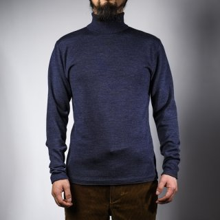 タートルネックセーター ネイビー  turtle neck sweater navy
