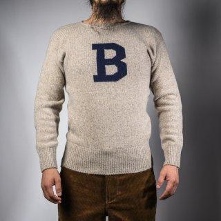 Bセーター オートミール×ネイビー  B-sweater oatmeal×navy