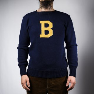 Bセーター ネイビー×イエロー  B-sweater navy×yellow