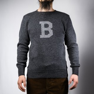 Bセーター グレー×ライトグレー  B-sweater gray×light gray