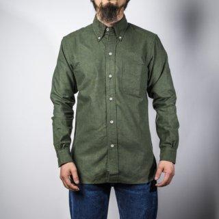 BONCOURA BD シャツ コットンフラノ オリーブ (BD shirt denim cotton flannel olive)