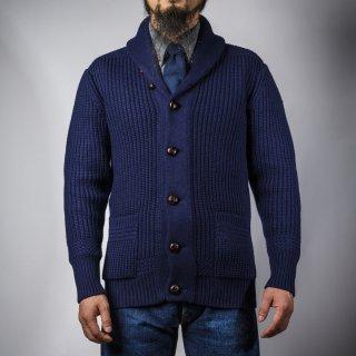 ショールカーディガン ネイビー (shawl collar cardigan navy)