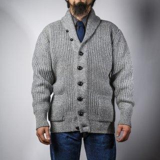 ショールカーディガン グレー (shawl collar cardigan gray)
