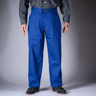 ワークパンツ イングリッシュツイル インクブルー (work pants English twill blue)