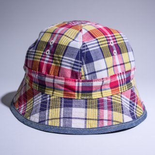 US navy reversible hat bright madras plaid limited edition