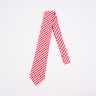 BONCOURA tie gingham checked red