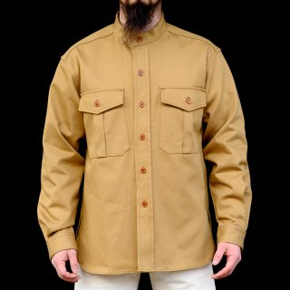 CPO Shirt Band Collar English Twill Khaki