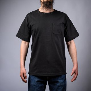 Heavy Weight Pocket Tee Black