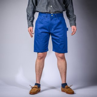 Painter short pants English twill blue