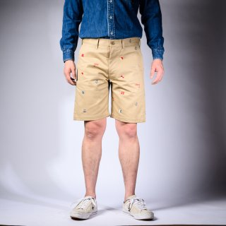Embroidered Shorts Chinos