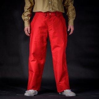 ワークパンツ モールスキン レッド (Work Pants Moleskin Red)