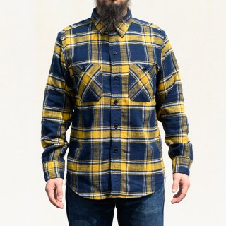 Work Shirt Flannel Yellow Tartan