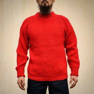 フィッシャーマンセーター レッド シェットランド Fisherman Sweater Red Shetland