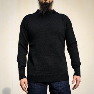 ガンジーセーター ブラック Guernsey Sweater Black
