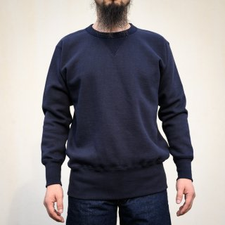 両Vトレーナー ネイビー Loop Wheeled V Sweater Navy