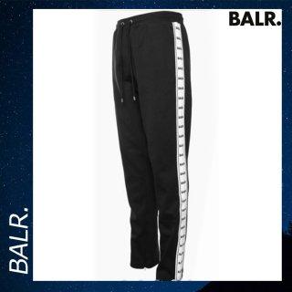 BALR. 【ボーラー】 テープ スウェット パンツ ブラック ボトムス コットン 黒