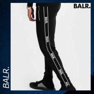 BALR. 【ボーラー】 ブランド スウェット パンツ ブラック ボトムス コットン