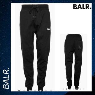 BALR. 【ボーラー】 ジップ スウェット パンツ ブラック ボトムス コットン 黒