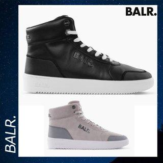 BALR. 【ボーラー】 レザー ブランド ロゴ ブラック スニーカー 靴 シューズ