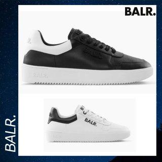 BALR. 【ボーラー】 レザー ロゴ スニーカー ローブ 靴 ブラック シューズ 白