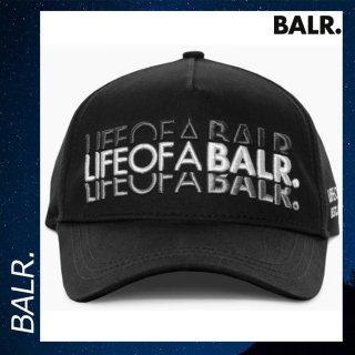 BALR. 【ボーラー】 LIFEOFABALR ダブル クラシック キャップ ブラック 帽子 ロゴ 黒
