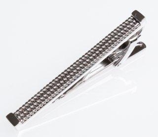 TATEOSSIAN『タテオシアン』タイクリップ 正規取扱店 TC0461-Braided Rhodium 50mm