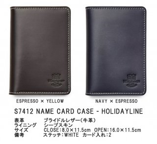 Whitehouse Cox 『ホワイトハウスコックス』 正規取扱店 ネームカードケース ホリデーライン S7412 NAME CARD CASE Holiday Line