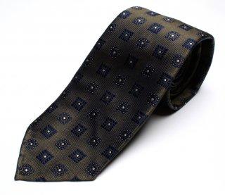 DRAKE'S『ドレイクス』英国製ネクタイ 正規取扱店 DRAKE'S-TJR80R-19691-5-グリーン小紋柄