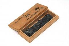 古墨 江戸末期製純松烟墨 君子竹 中型