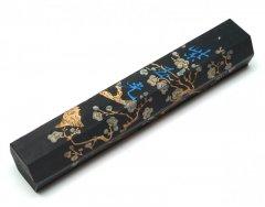 旧墨 紫玉光 (六角) 1/8型 二両 上海墨廠 1979年