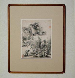 中国書画 額装 半no.1   「山水」