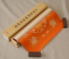 漢韻堂 蟠龍角紋描金絹宣 朱紅 2枚