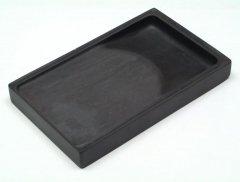 旧麻子坑 長方硯 8インチ 上蓋付 【規格品】