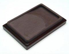 宋坑 長方淌池硯  6インチ【規格品】
