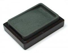 洮河緑石硯,  6インチ長方挿手硯