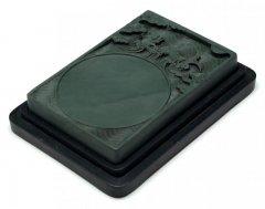 洮河緑石硯 6.6インチ 鯉龍海濤硯