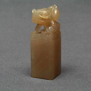 【規格品】 印材 紐付巴林彩凍石 1.8cm