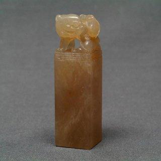 【規格品】 印材 紐付巴林彩凍石 2.0cm